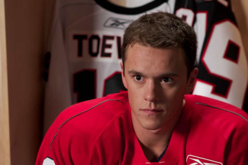 The 29-year old son of father Bryan Toews and mother Andrée Gilbert, 188 cm tall Jonathan Toews in 2017 photo