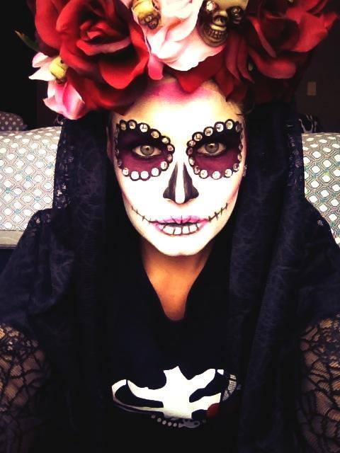 Mexican Sugar Skull Halloween Janine Holmes