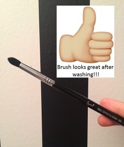 brush after wash