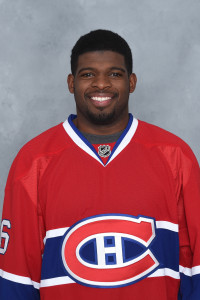 MONTREAL, CANADA - SEPTEMBER 18: P.K. Subban #76 of the Montreal Canadiens poses for his official headshot for the 2014-2015 season on September 18, 2014 at the Bell Sports Complex in Brossard, Quebec, Canada. (Photo by Francois Lacasse/NHLI via Getty Images) *** Local Caption *** P.K. Subban;