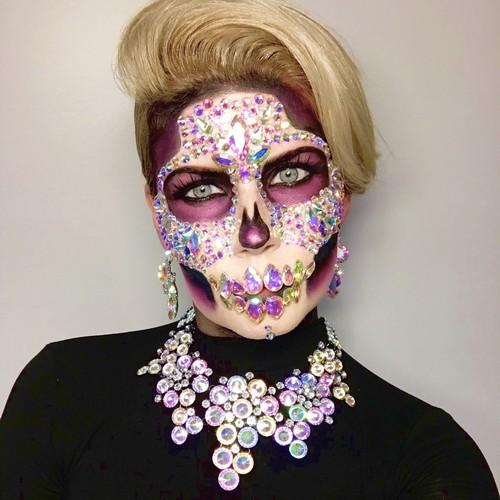 halloween makeup skull toronto