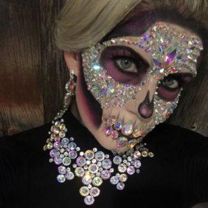crystal skull halloween makeup